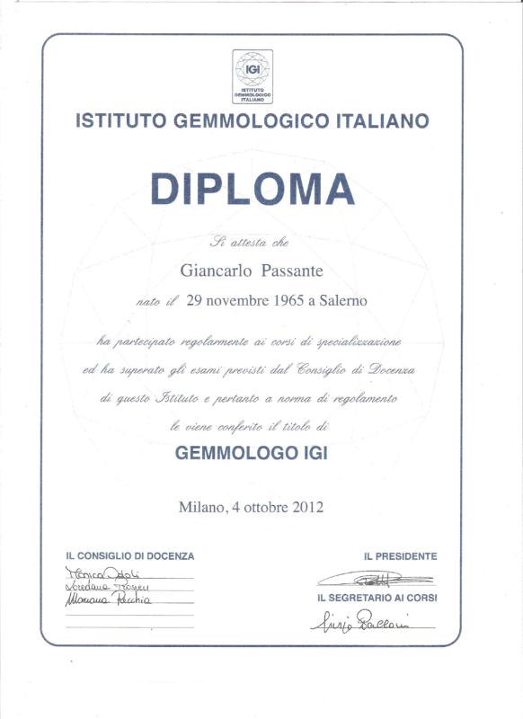 PERITO GEMMOLO ITALIANO